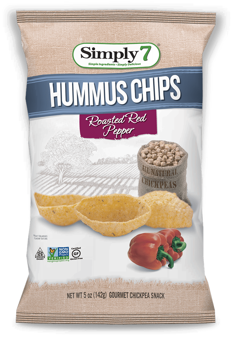 Roasted Red Pepper Hummus Chips - Simply 7 SnacksSimply 7 Snacks